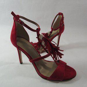 Ann Taylor Adina Fringe Suede Pump Heels